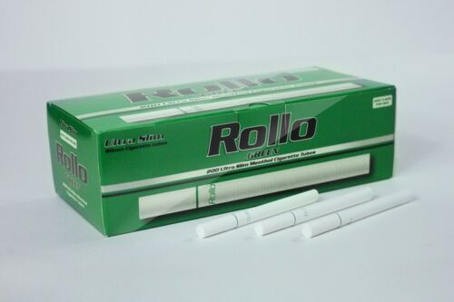 600 MICRO SLIM GREEN MENTHOL EMPTY ROLLO TUBES Cigarrette Tobbacco Filter