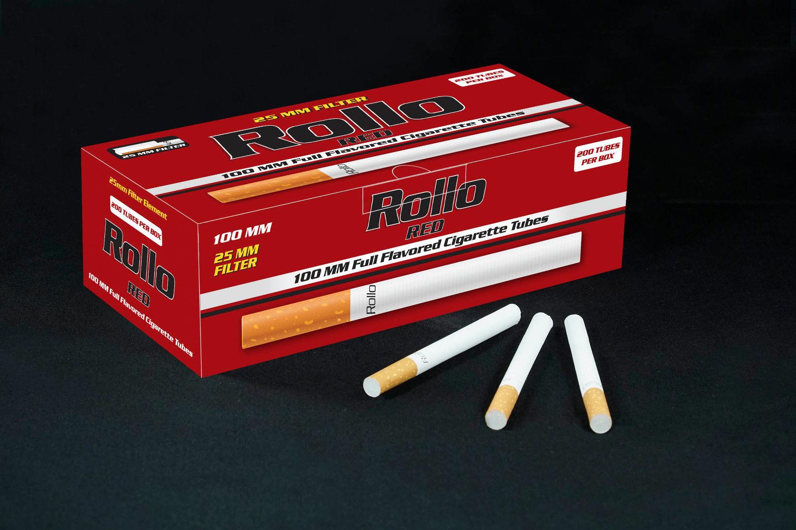 """250 KING SIZE /""""NEW 50s/"""" RED EMPTY ROLLO TUBE Ciggarette Tobbacco Filter"""